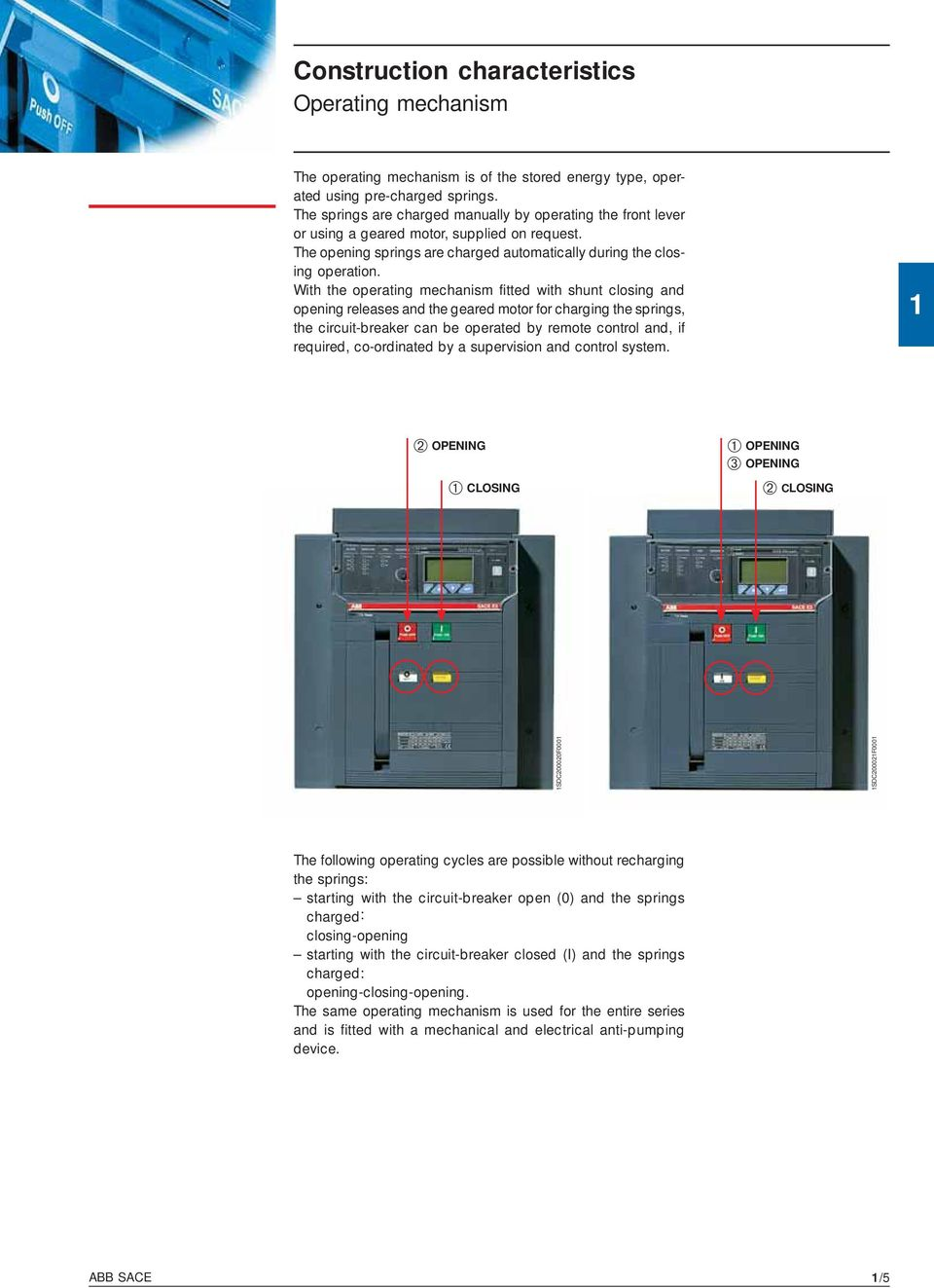 Technical Catalogue Emax Low Voltage Air Circuit Breakers Pdf Abb Motor Starter Wiring Diagram With The Operating Mechanism Fitted Shunt Closing And Opening Releases Geared For