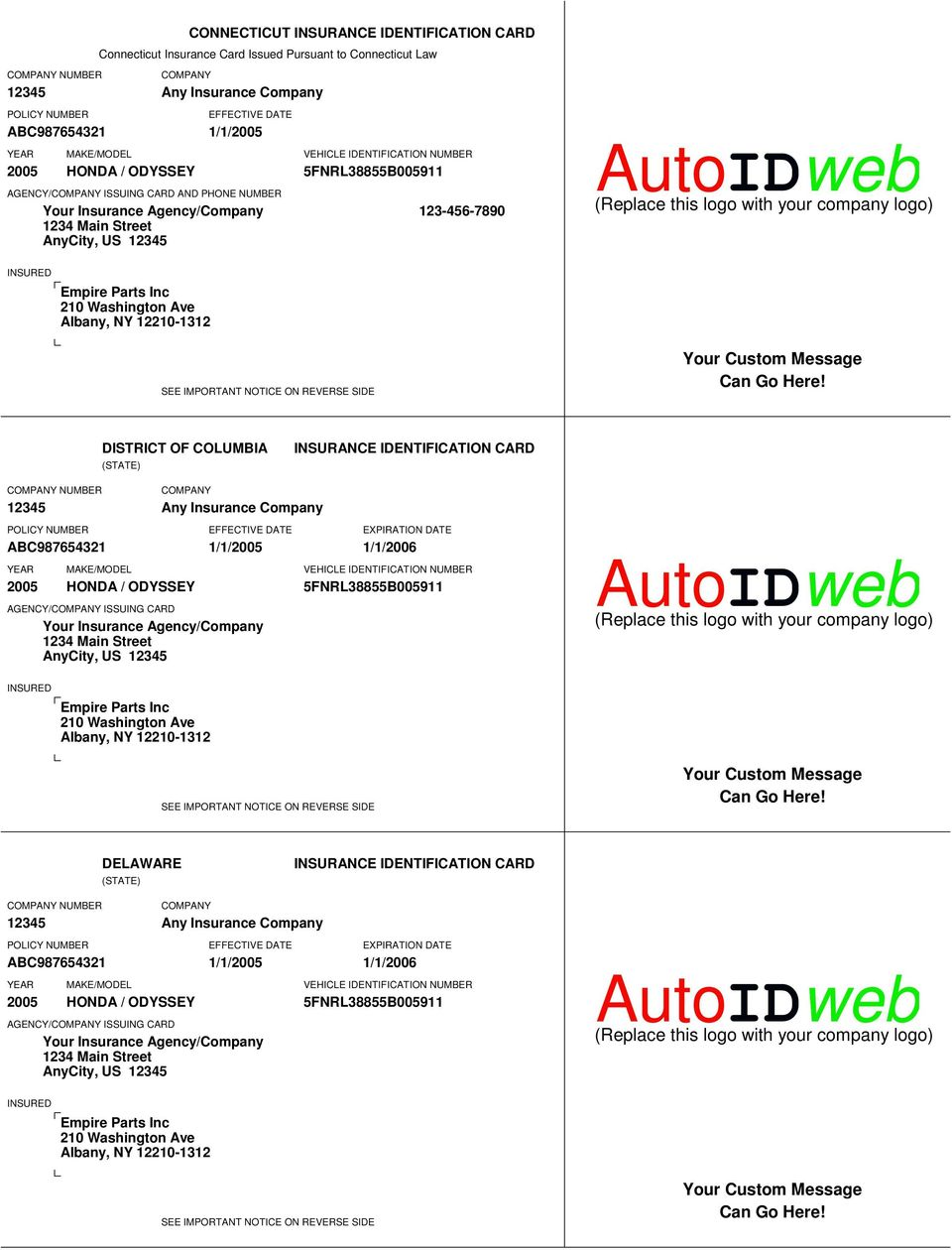 This Card Must Be Kept In The Insured Vehicle And Presented Upon Demand Pdf Free Download