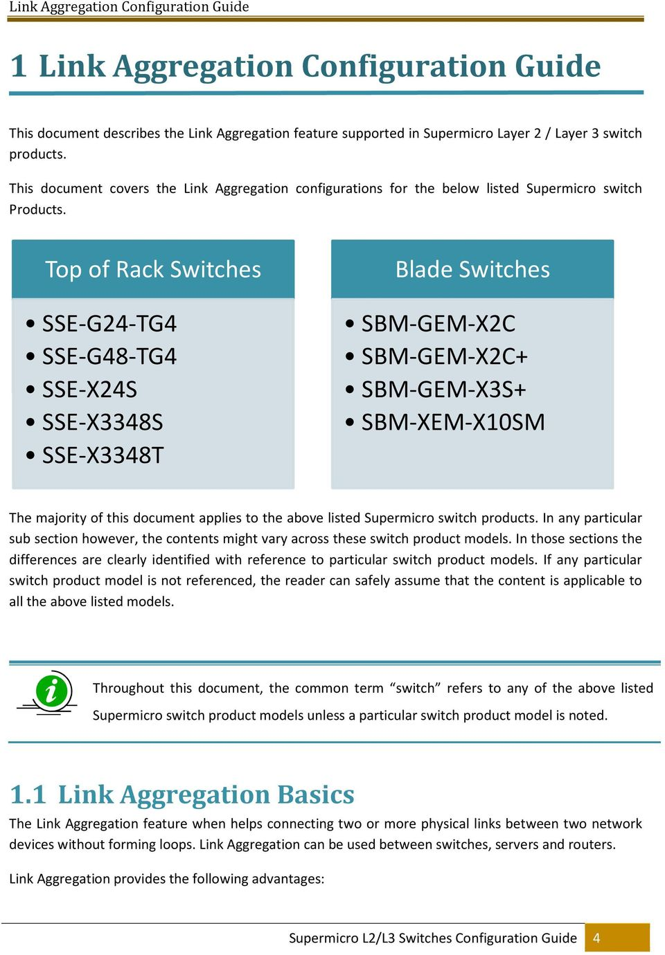 L2 / L3 Switches  Link Aggregation  Configuration Guide - PDF