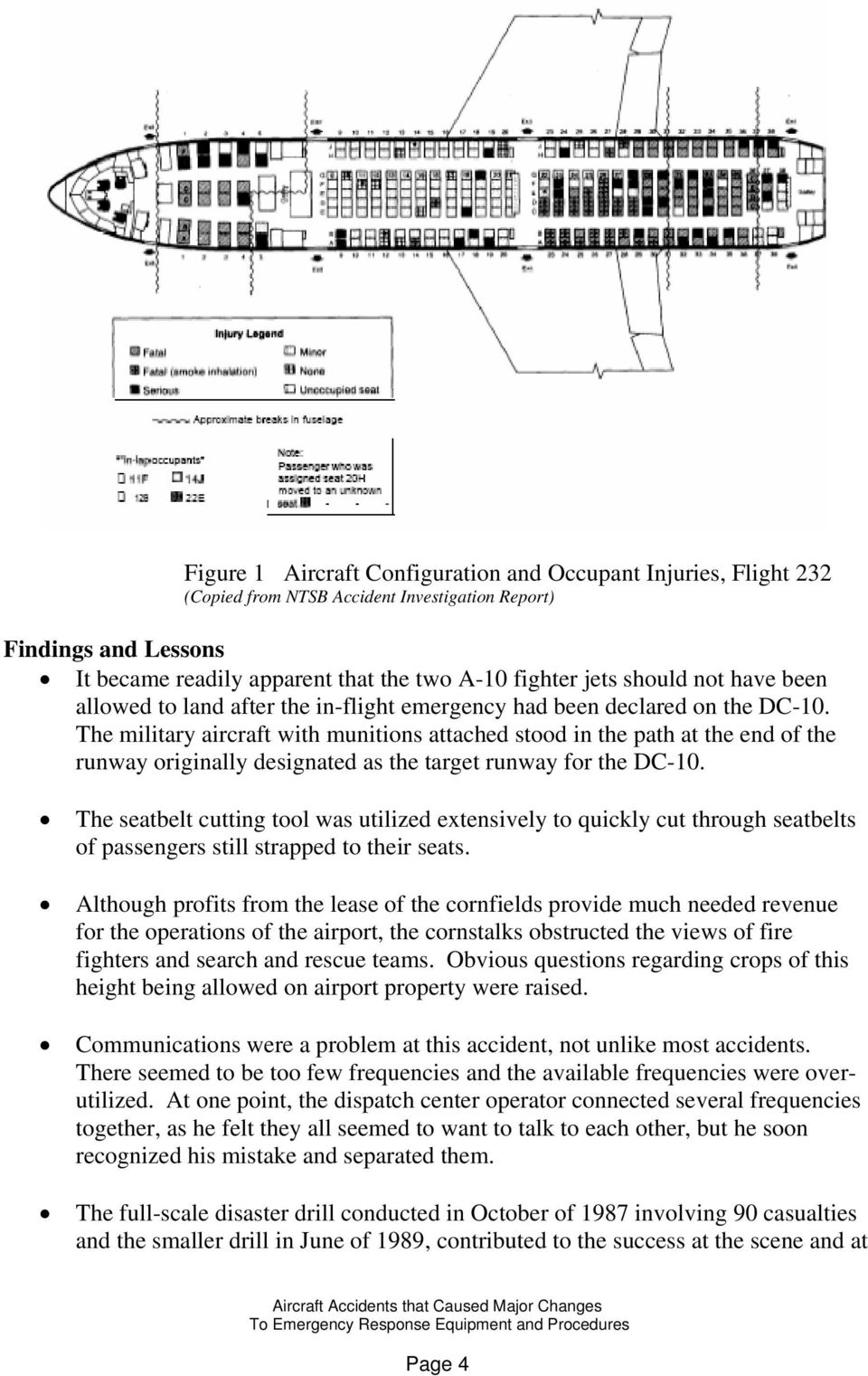 Aircraft Accidents that Caused Major Changes to Emergency Response