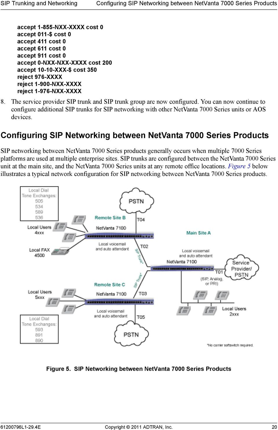 You can now continue to configure additional SIP trunks for SIP networking with other NetVanta 7000 Series units or AOS devices.