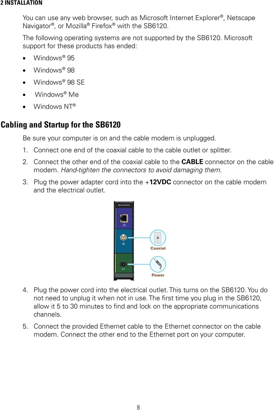 user guide sb6120 surfboard docsis 3 0 cable modem pdf rh docplayer net Motorola SB6120 Cable Modem Motorola SB6120