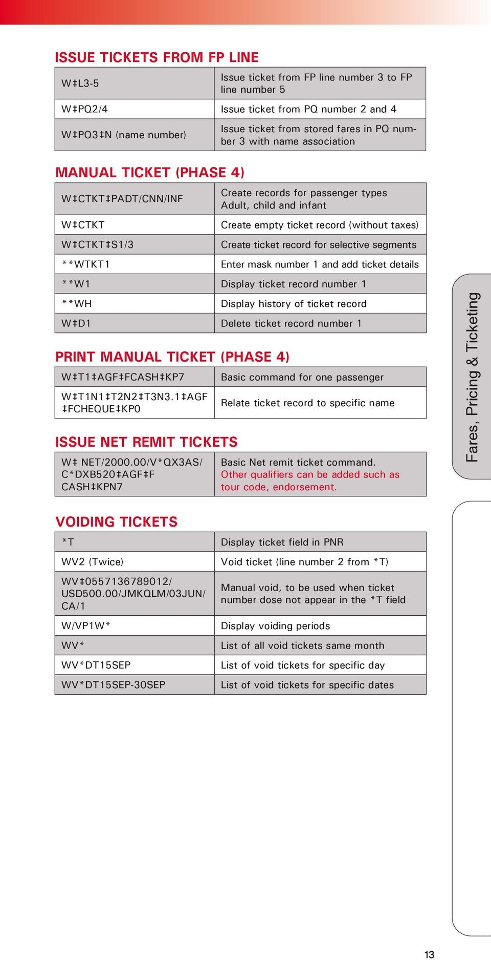 Create ticket record for selective segments Enter mask number 1 and add  ticket details **