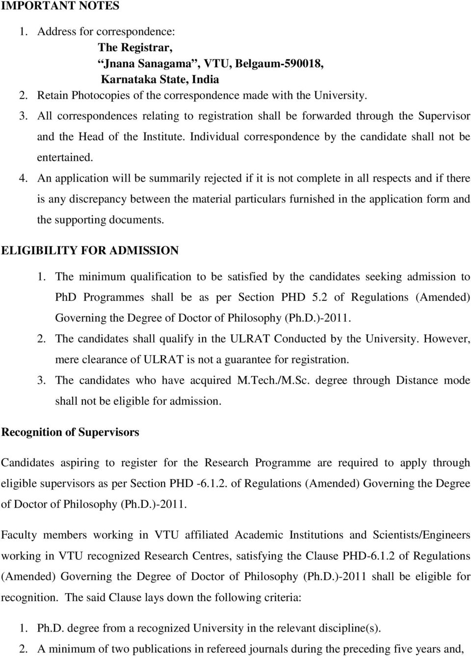 GUIDELINES ON RESEARCH PROGRAMMES AT VTU (Based on Regulations