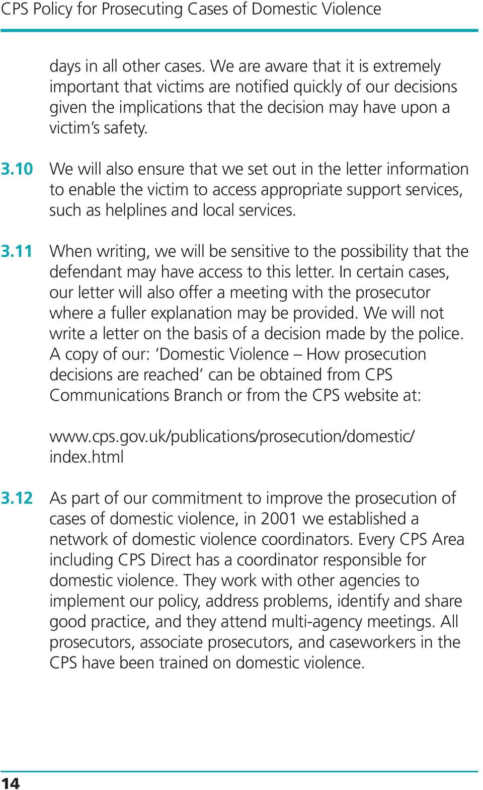 CPS Policy for Prosecuting Cases of Domestic Violence - PDF