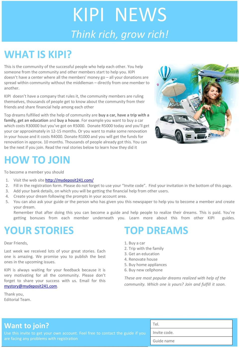 KIPI NEWS Think rich, grow rich! - PDF