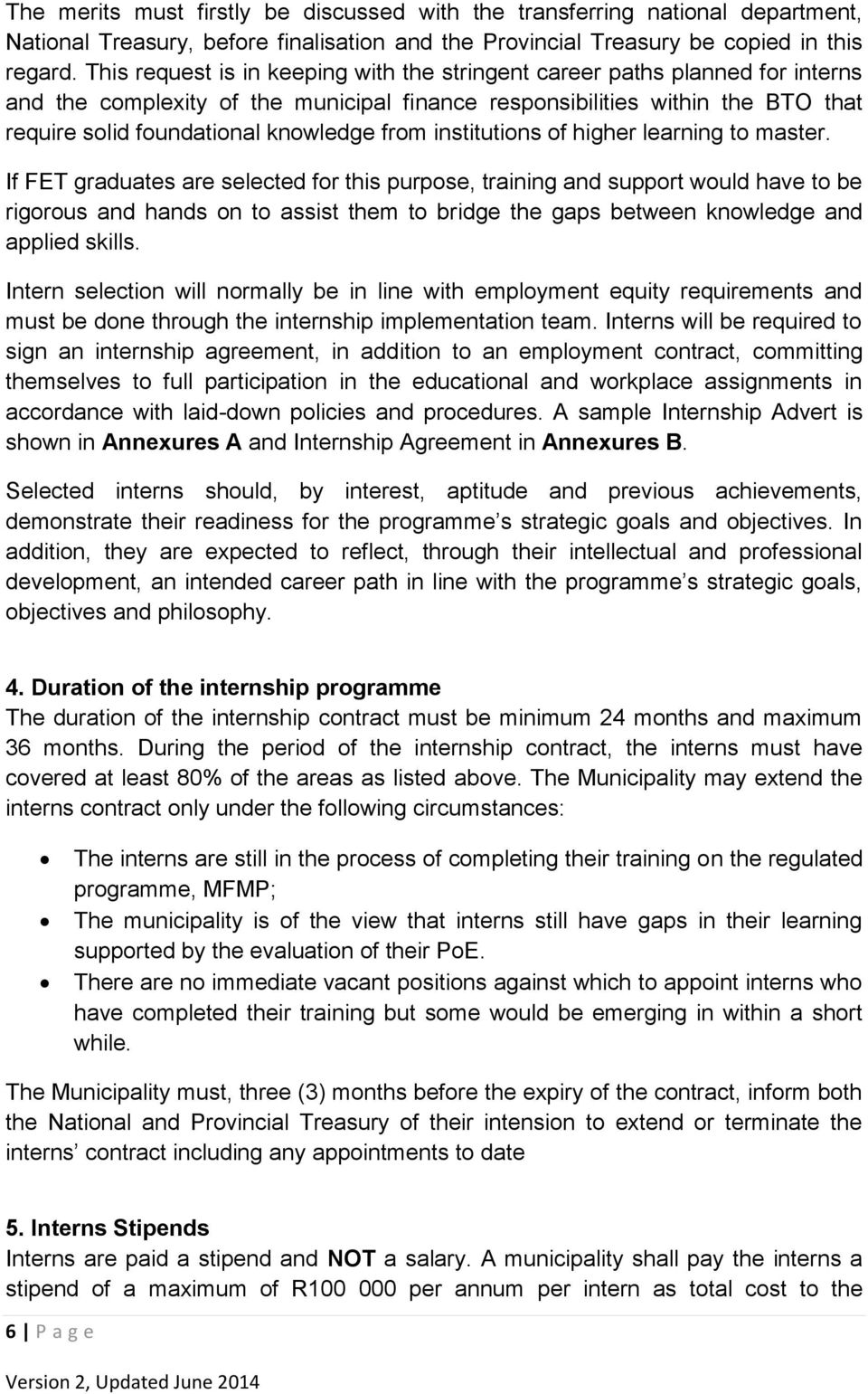 GUIDELINES FOR IMPLEMENTATION OF MUNICIPAL FINANCE