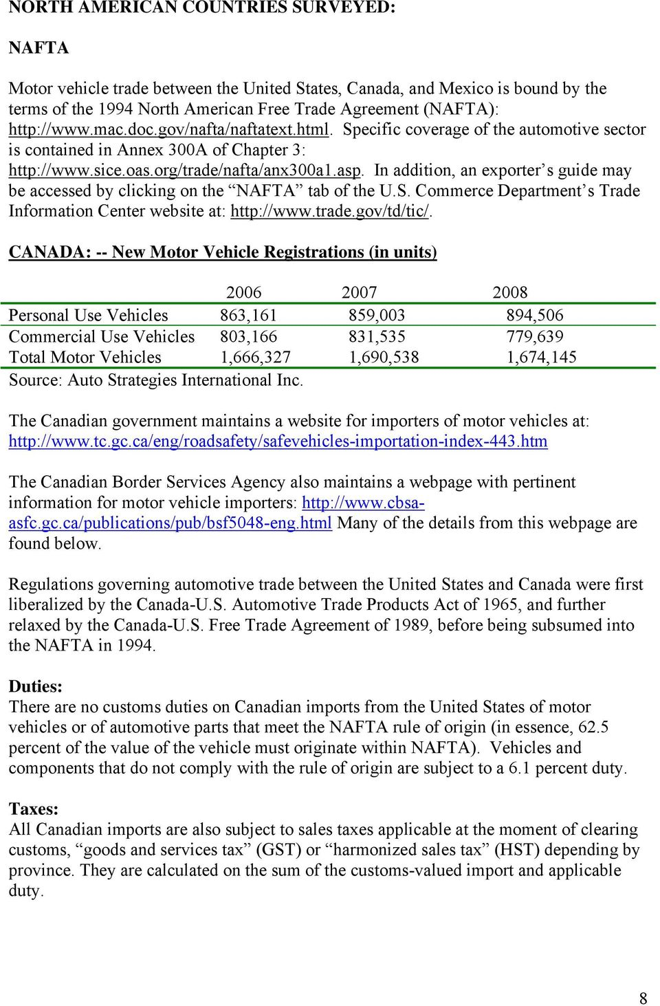 Compilation of Foreign Motor Vehicle Import Requirements - PDF