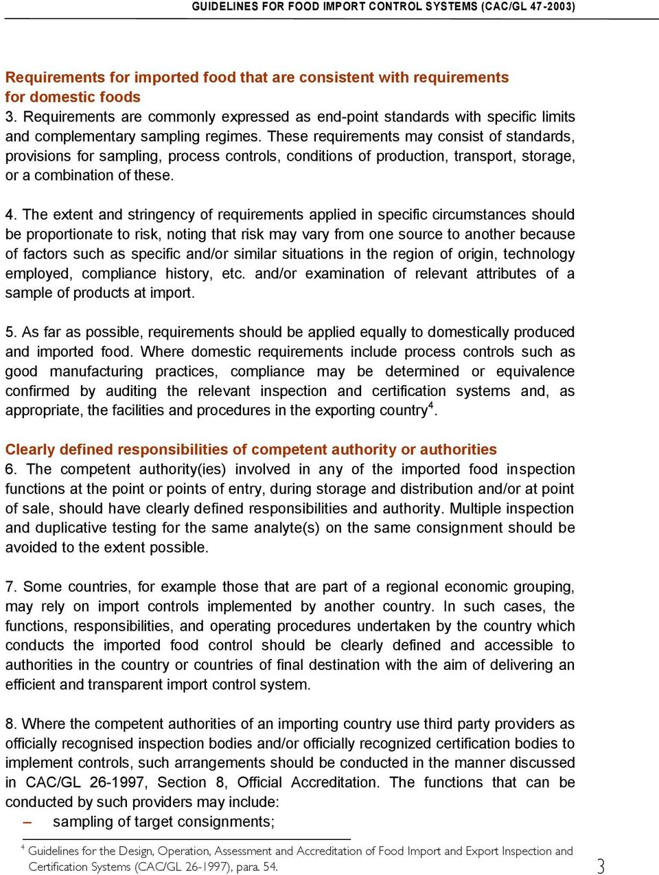 GUIDELINES FOR FOOD IMPORT CONTROL SYSTEMS - PDF