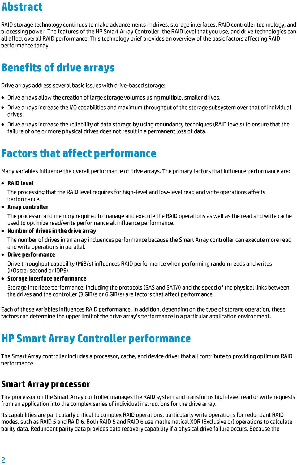 Array Of Factors Drives Students From >> Hp Smart Array Controllers And Basic Raid Performance Factors Pdf