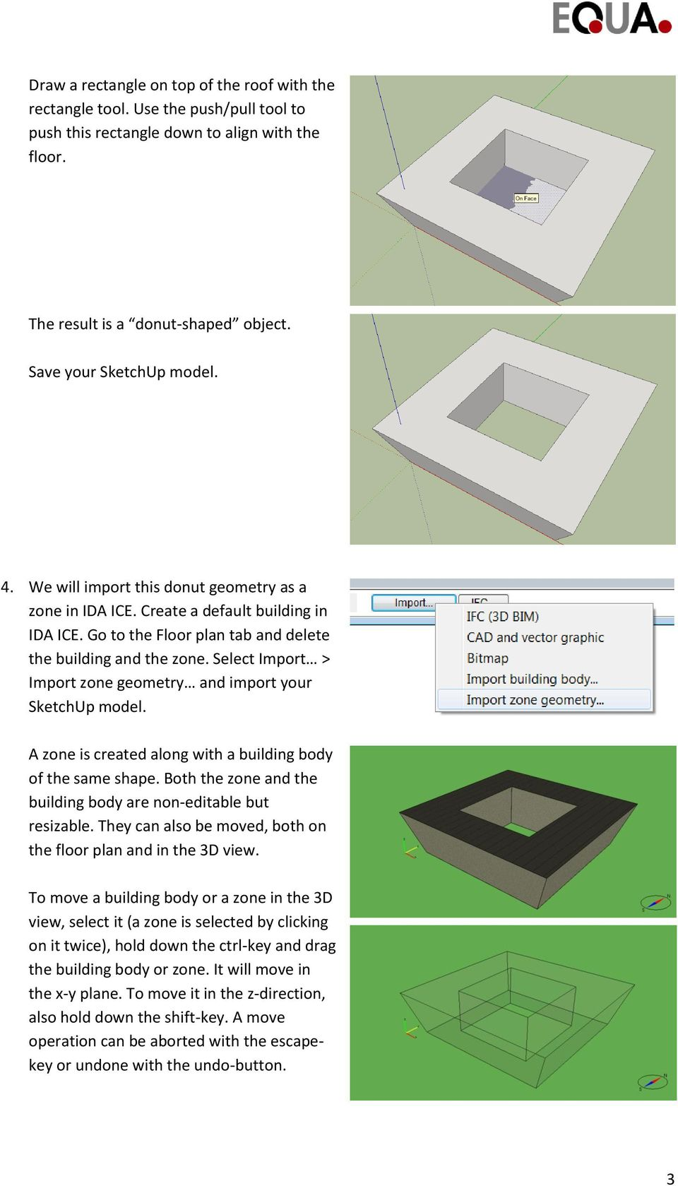 Exercise: Building and zone geometry import from SketchUp - PDF