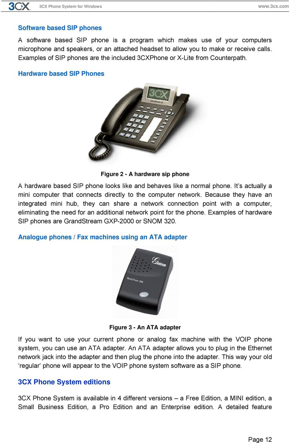 Manual 3cx Phone System For Windows Version Pdf Telephones Connected To Line 2 Will Now See The Voip Adapter As They Hardware Based Sip Phones Figure A