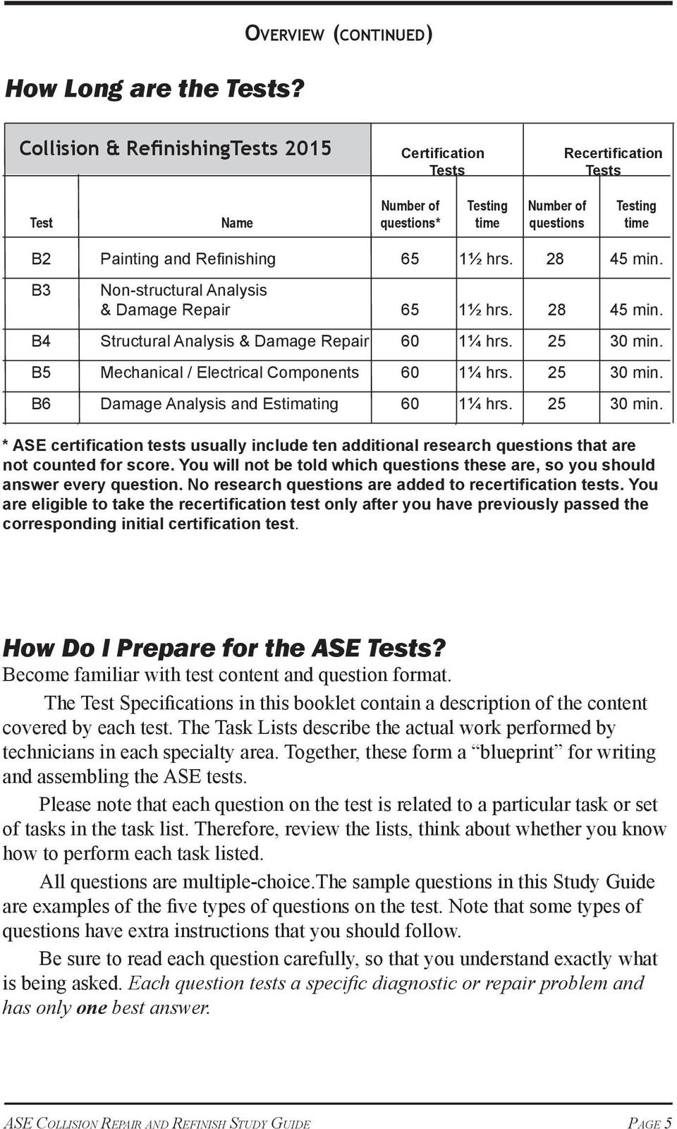 Ase Collision Repair And Refinish Tests Pdf