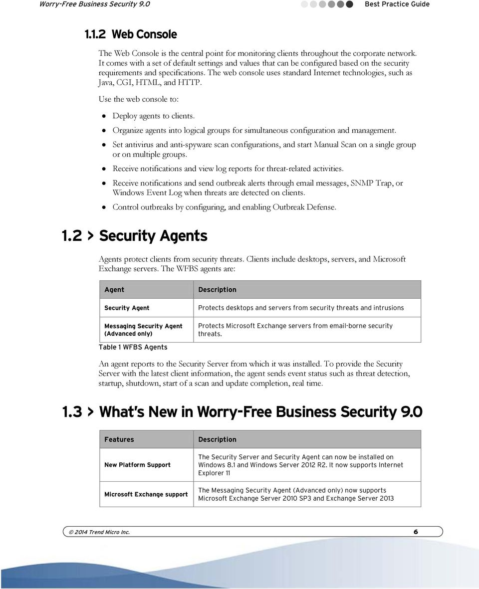 Trend Micro Worry-Free Business Security 9 0 Best Practice Guide - PDF