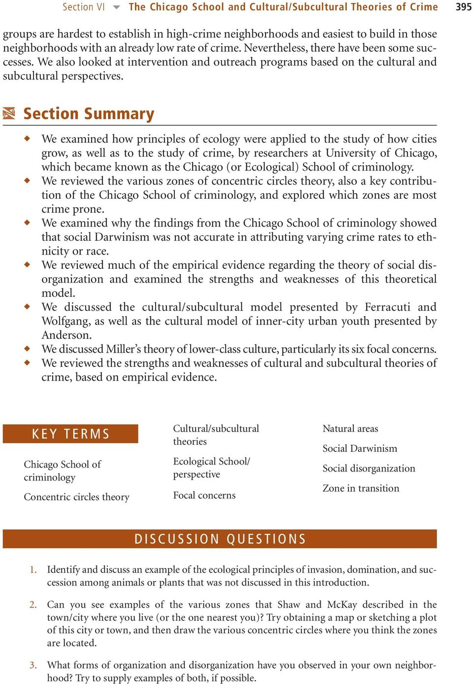 ecological theory of crime chicago school