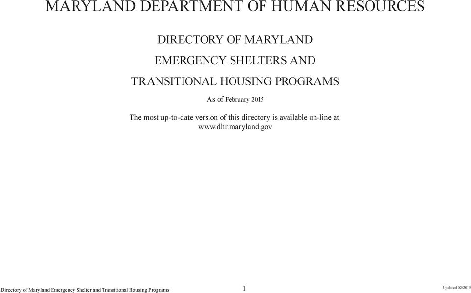 MARYLAND DEPARTMENT OF HUMAN RESOURCES - PDF
