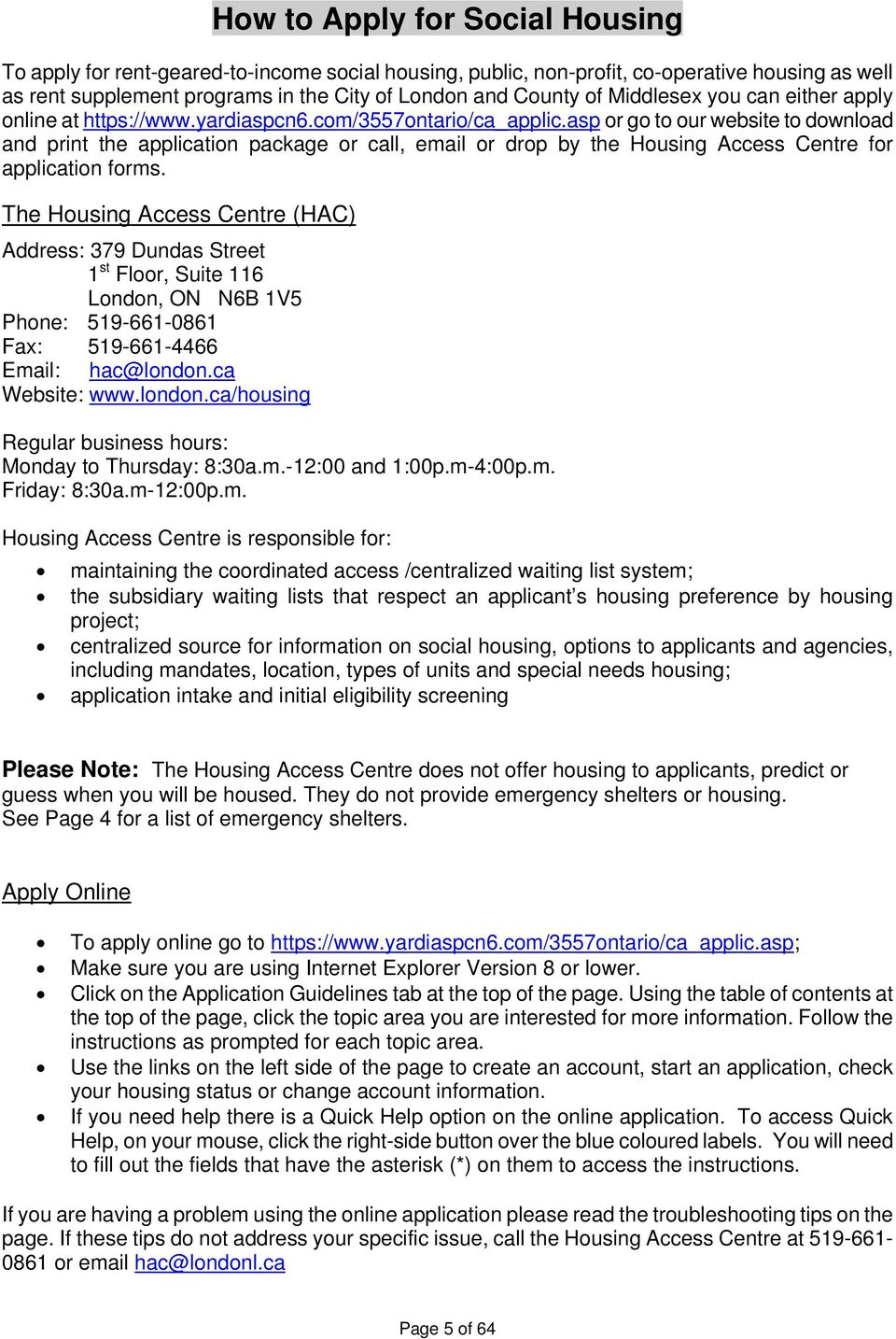 HOUSING DIRECTORY  A Guide to Social Housing & other