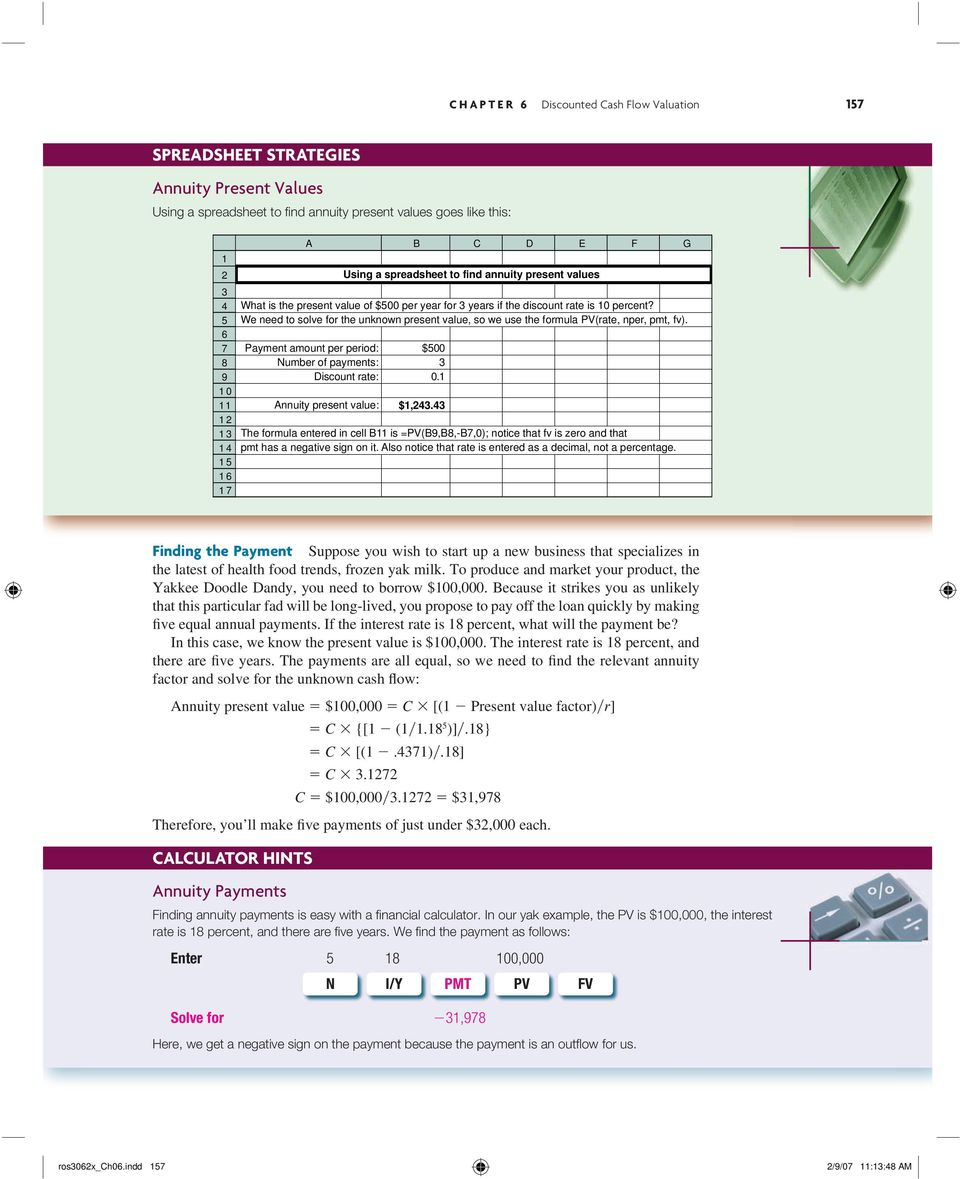 discounted cash flow valuation pdf