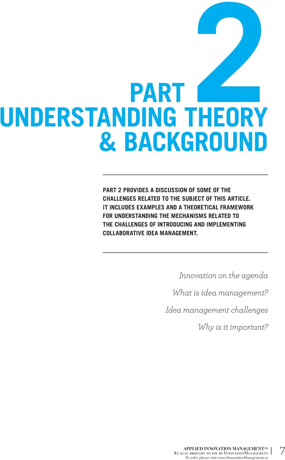 IT INCLUDES EXAMPLES AND A THEORETICAL FRAMEWORK FOR UNDERSTANDING THE MECHANISMS RELATED TO THE
