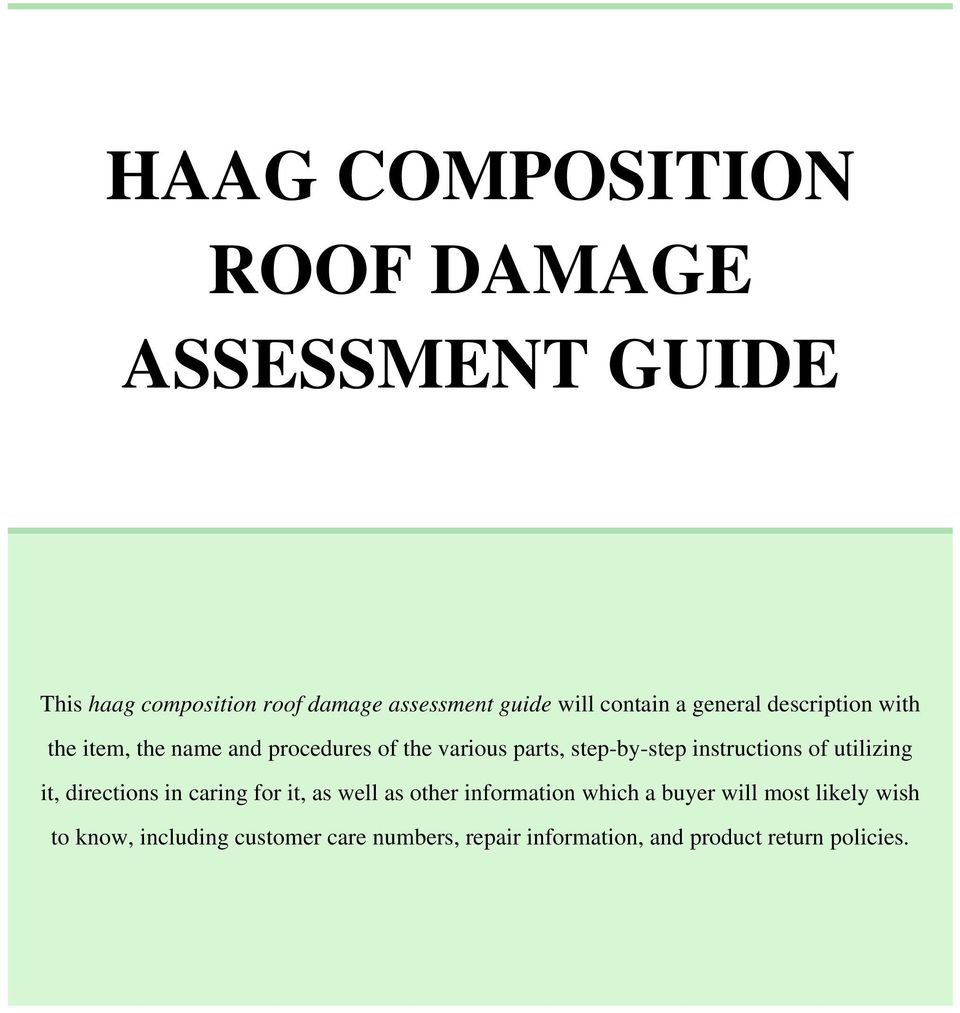 haag composition roof damage assessment guide pdf rh docplayer net