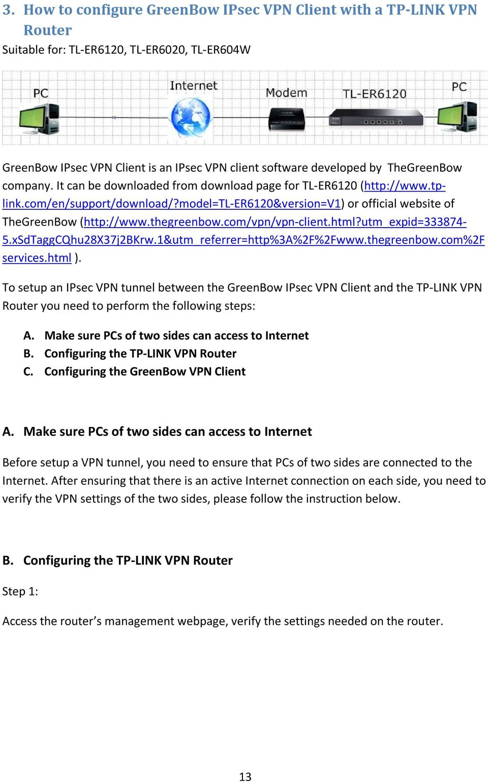 How to configure VPN function on TP-LINK Routers - PDF