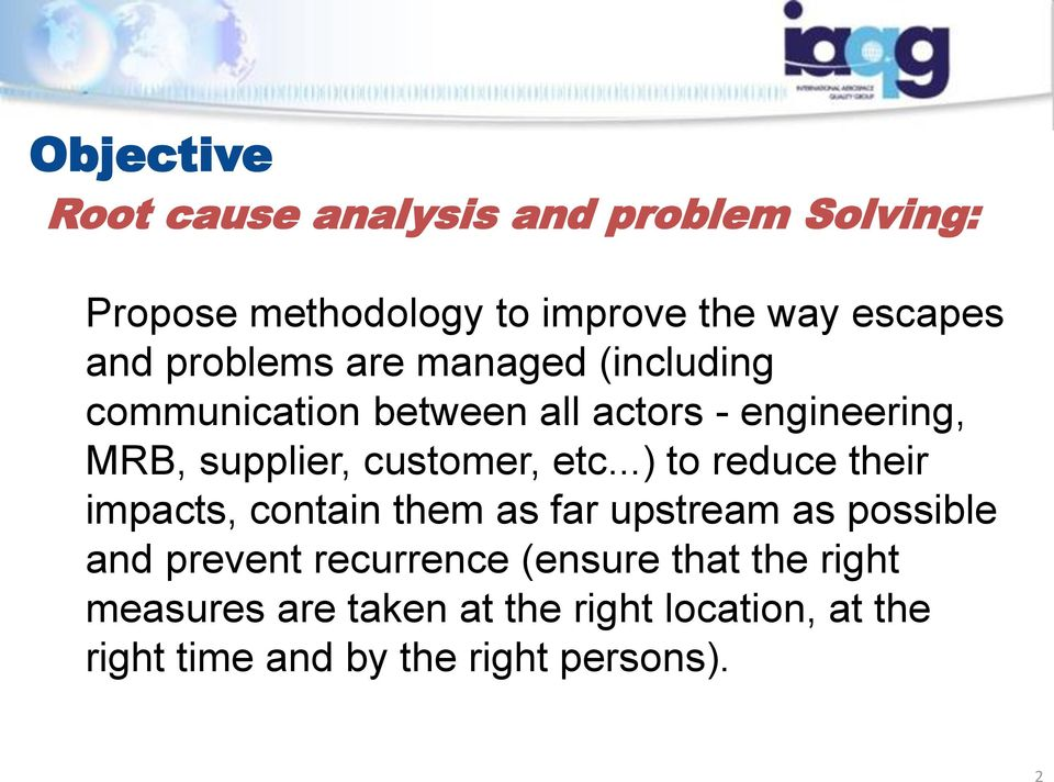 9136 root cause analysis and problem solving
