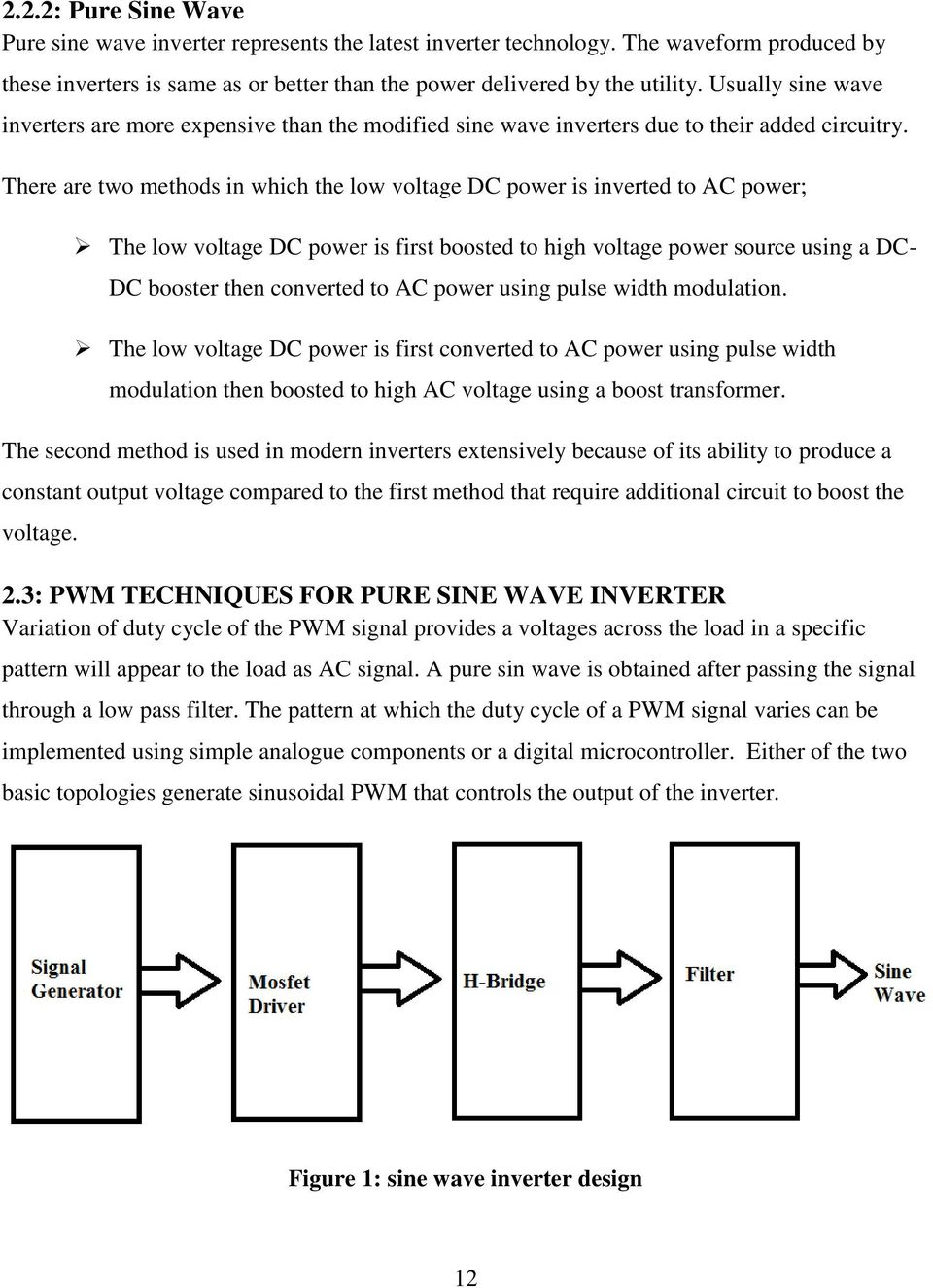 University Of Nairobi Pdf Sine Wave Design Modified Code For Inverter 12 There Are Two Methods In Which The Low Voltage Dc Power Is Inverted To Ac