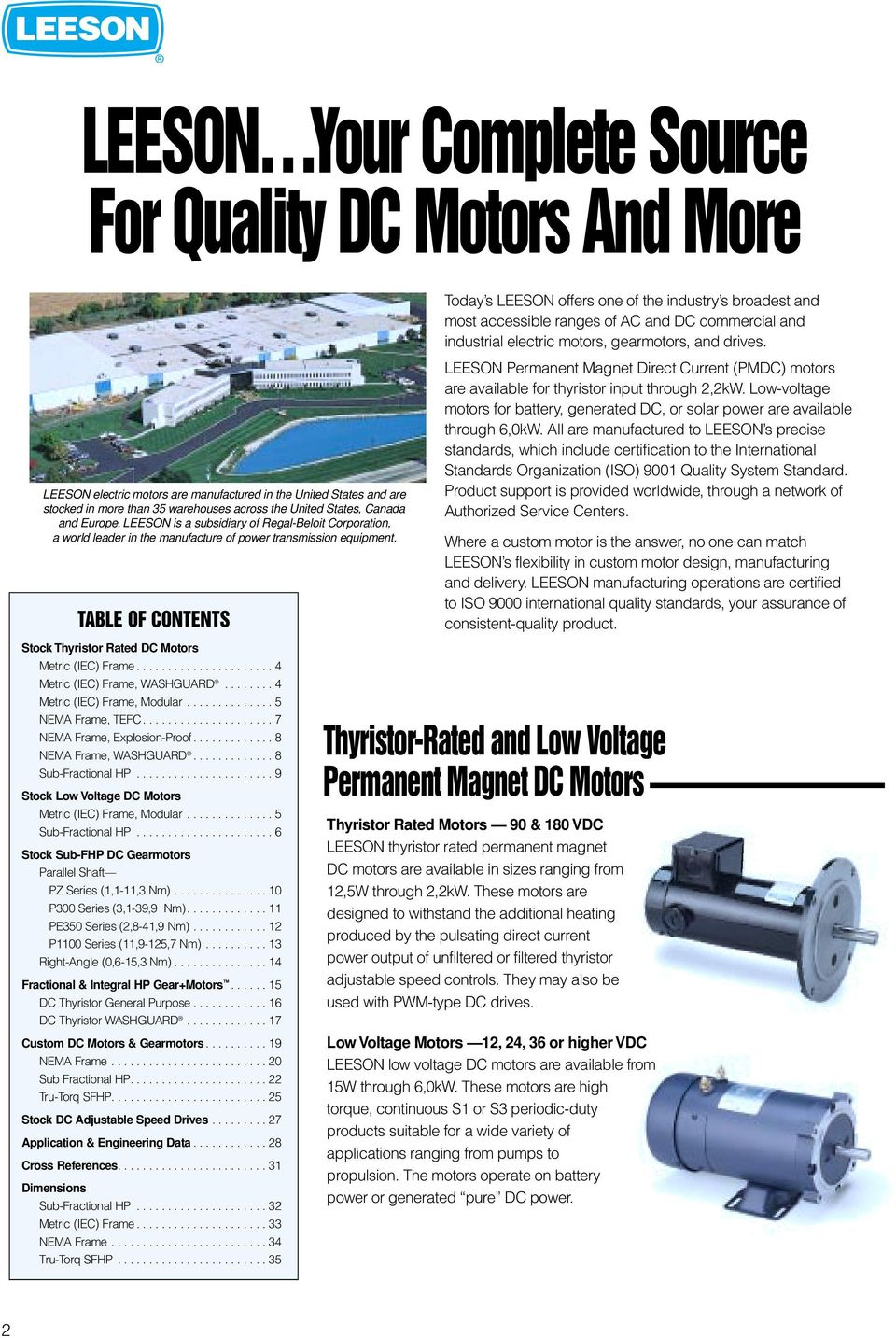 Direct Current Motors Gearmotors Pdf Motor Additionally Bodine Electric Wiring Diagram Also Thermal Leeson Is A Subsidiary Of Regal Beloit Corporation World Leader In The Manufacture