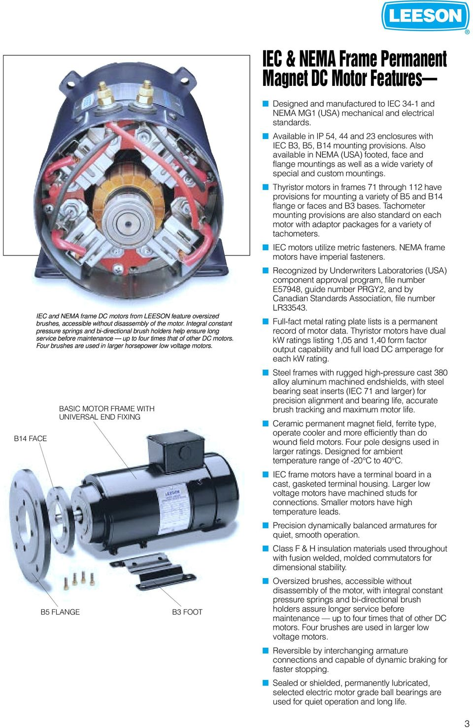 Direct Current Motors Gearmotors Pdf Induction And Reversible This Diagram Will Help You Wire Four Brushes Are Used In Larger Horsepower Low Voltage