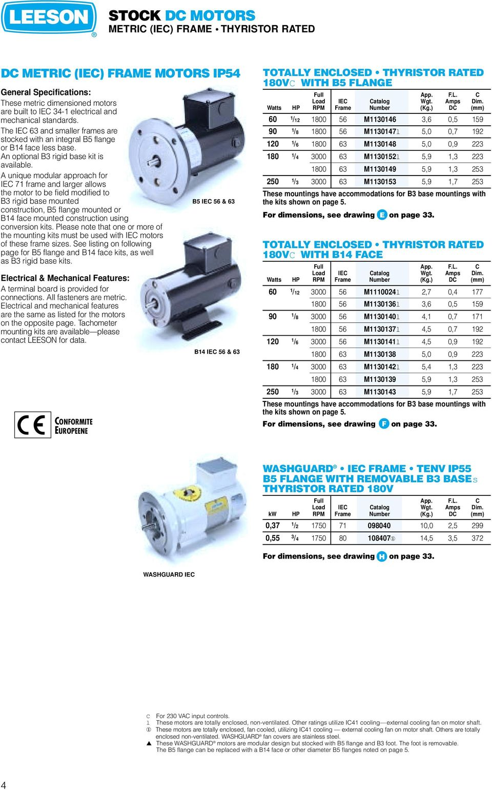 Direct Current Motors Gearmotors Pdf Leeson Dc Motor Wiring Diagram A Unique Modular Approach For Iec 71 Frame And Larger Allows The To Be Field