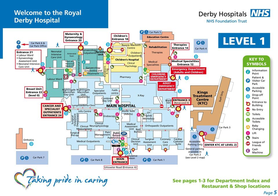 Royal Derby Hospital Map Welcome to the Royal Derby Hospital   PDF