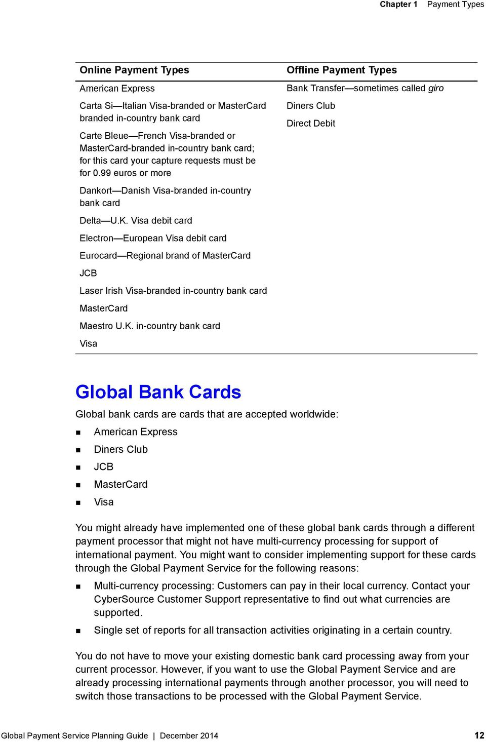 CyberSource Global Payment Service - PDF