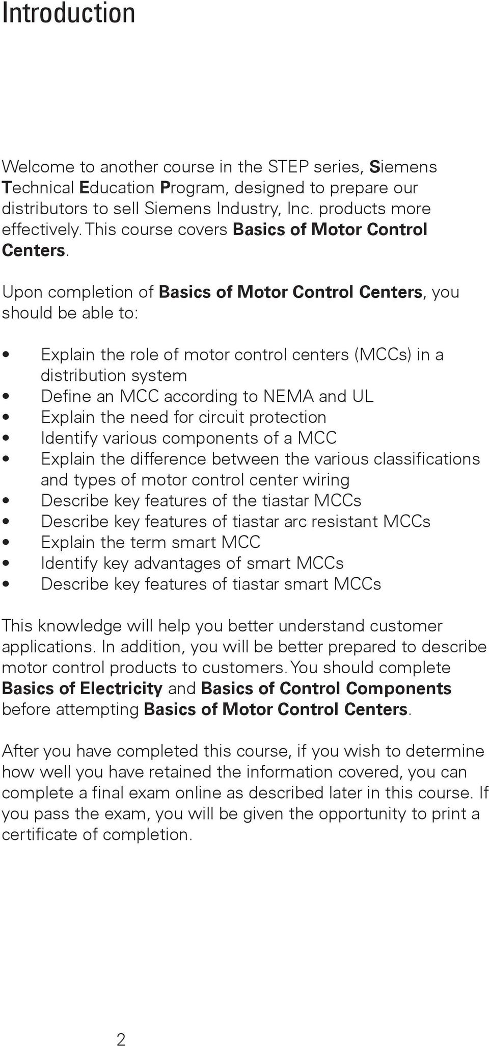 Table Of Contents Review Answers77 Final Exam Pdf Introduction To Circuit And Motor Protection 4 Upon Completion Basics Control Centers You Should Be Able Explain