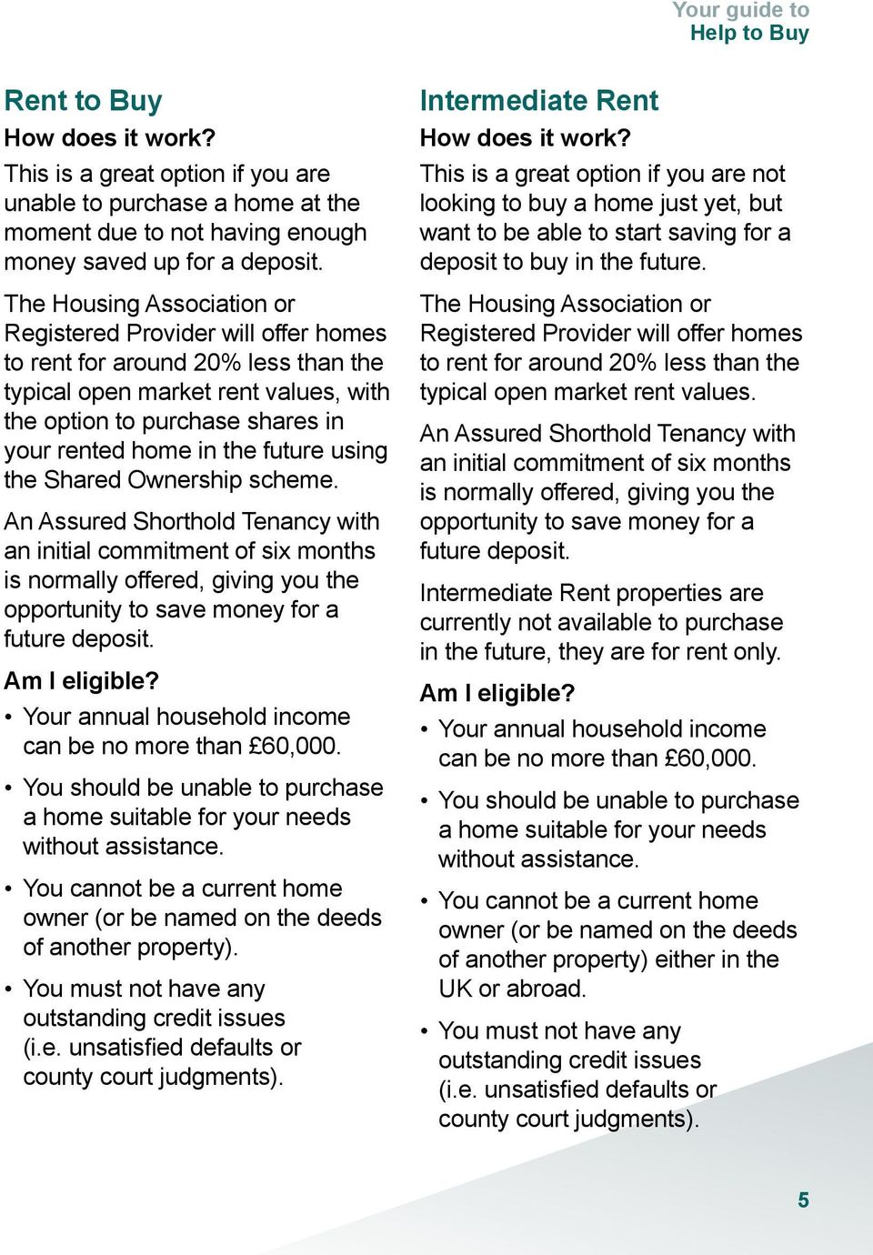 future using the Shared Ownership scheme. An Assured Shorthold Tenancy with an initial commitment of six months is normally offered, giving you the opportunity to save money for a future deposit.
