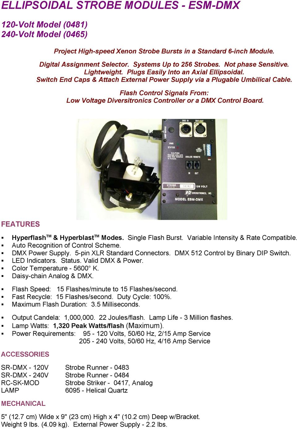 Diversitronics Inc Tm Pdf The Dmx Power Over Cat5 System Is Not To Be Confused With External Supply Lbs Flash Control Signals From Low Voltage Controller Or A Board Hyperflash