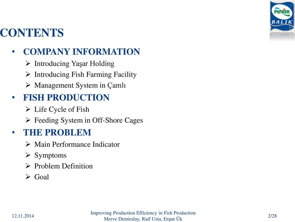 IMPROVING PRODUCTION EFFICIENCY IN FISH PRODUCTION - PDF