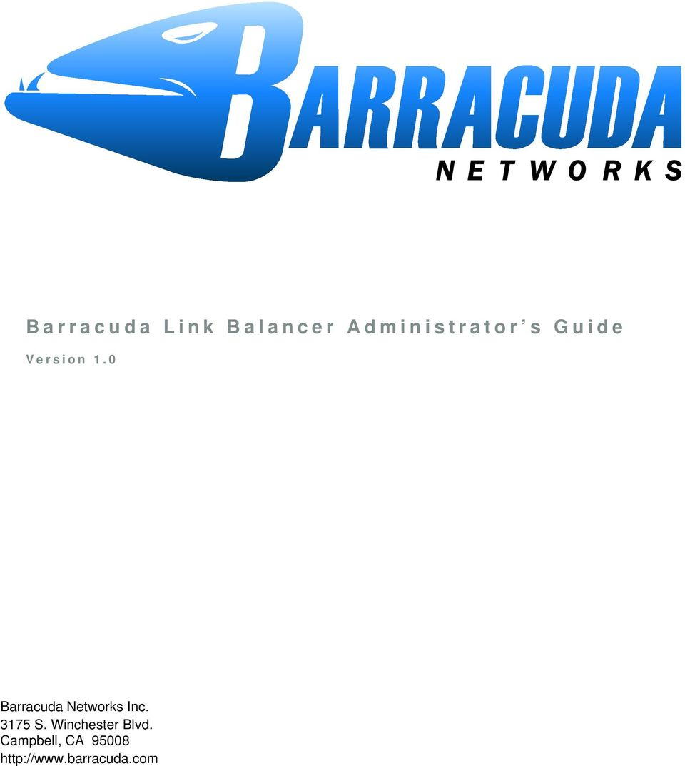 0 Barracuda Networks Inc. 3175 S.