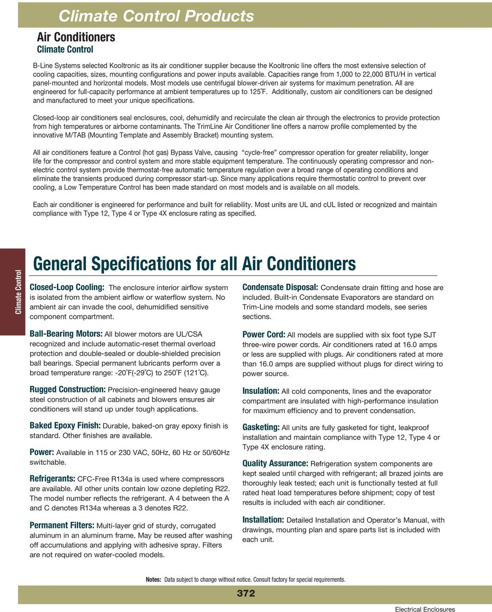 Climate Control Products - PDF
