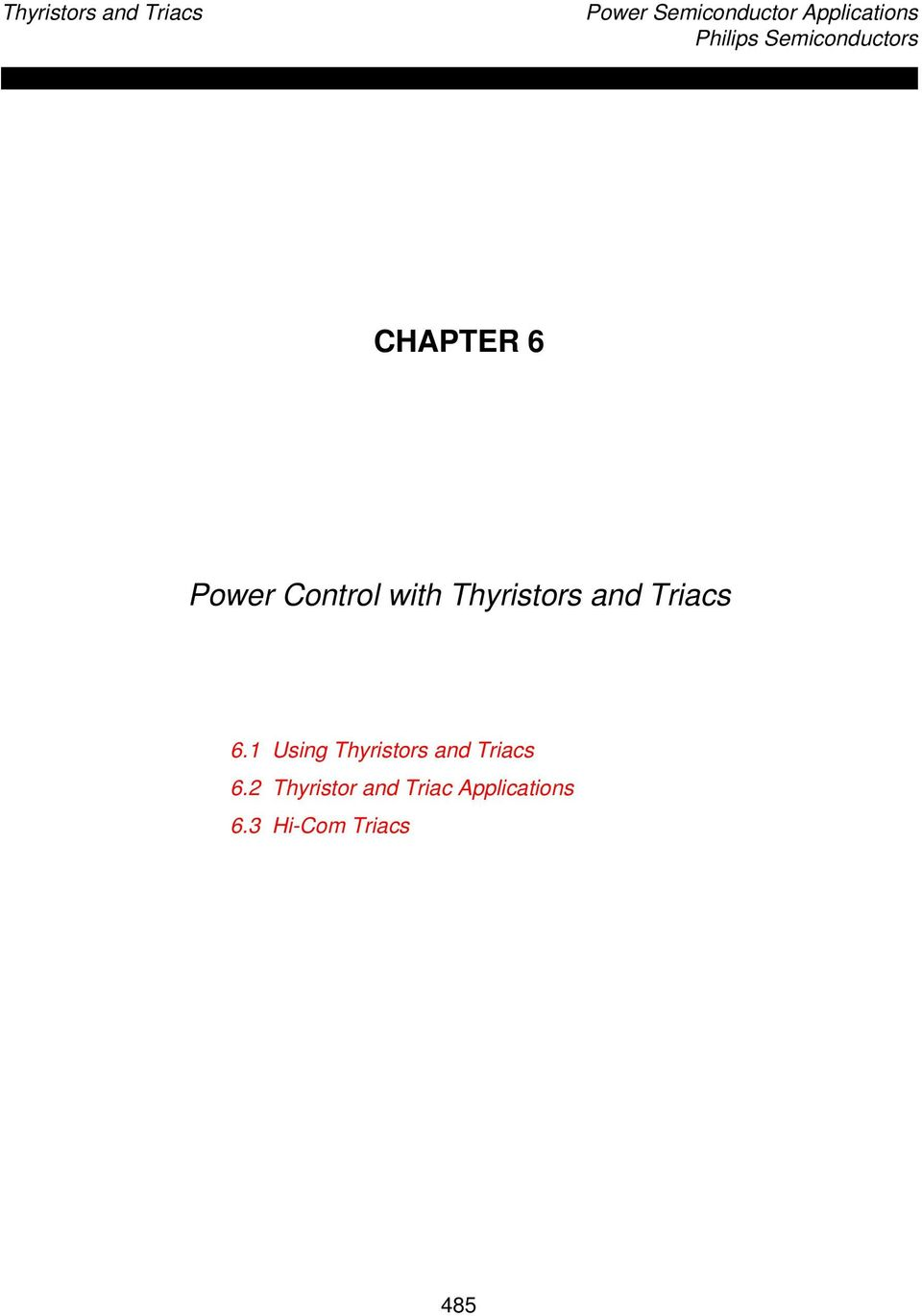 Power Control With Thyristors And Triacs Pdf Triac 0 Point Switch Circuit Diagram Electronic Diagrams 1 Using 2 Thyristor