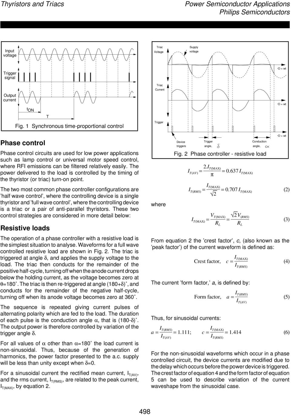 Power Control With Thyristors And Triacs Pdf Basic Snubber Circuit Used A Triac Filtered Relatively Easily The Delivered To Load Is Controlled By Timing Of