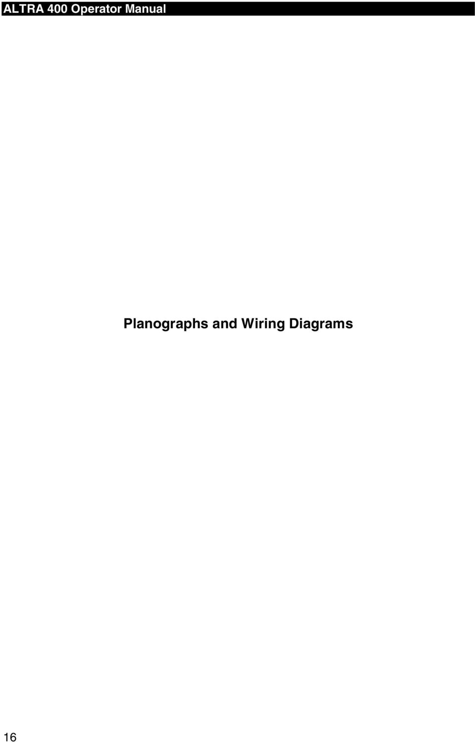 Altra 400 Operator Manual Planographs And Wiring Diagrams Pdf 230 Volt Diagram 2 Final Assembly All Altras W Head Part Description Specific Use If Any A Tank Assy Model 60358a Sp