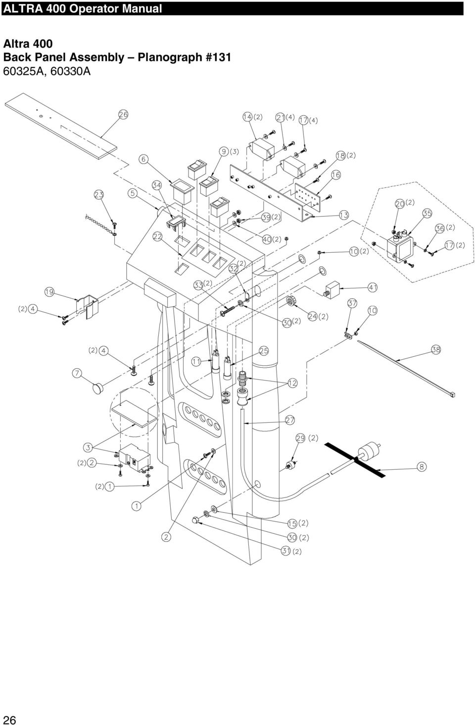 altra 400 operator manual  planographs and wiring diagrams