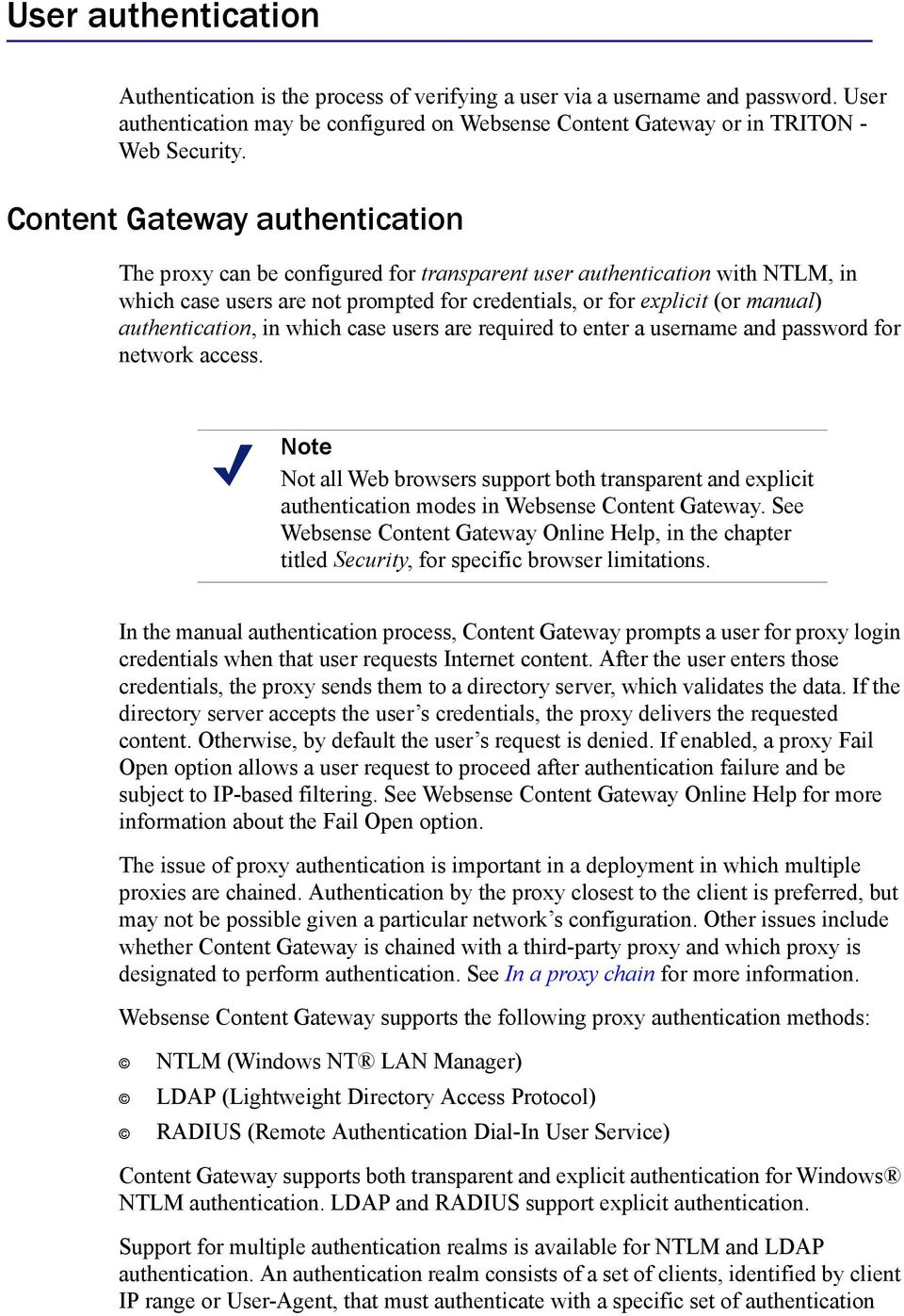 Deploying with Websense Content Gateway - PDF