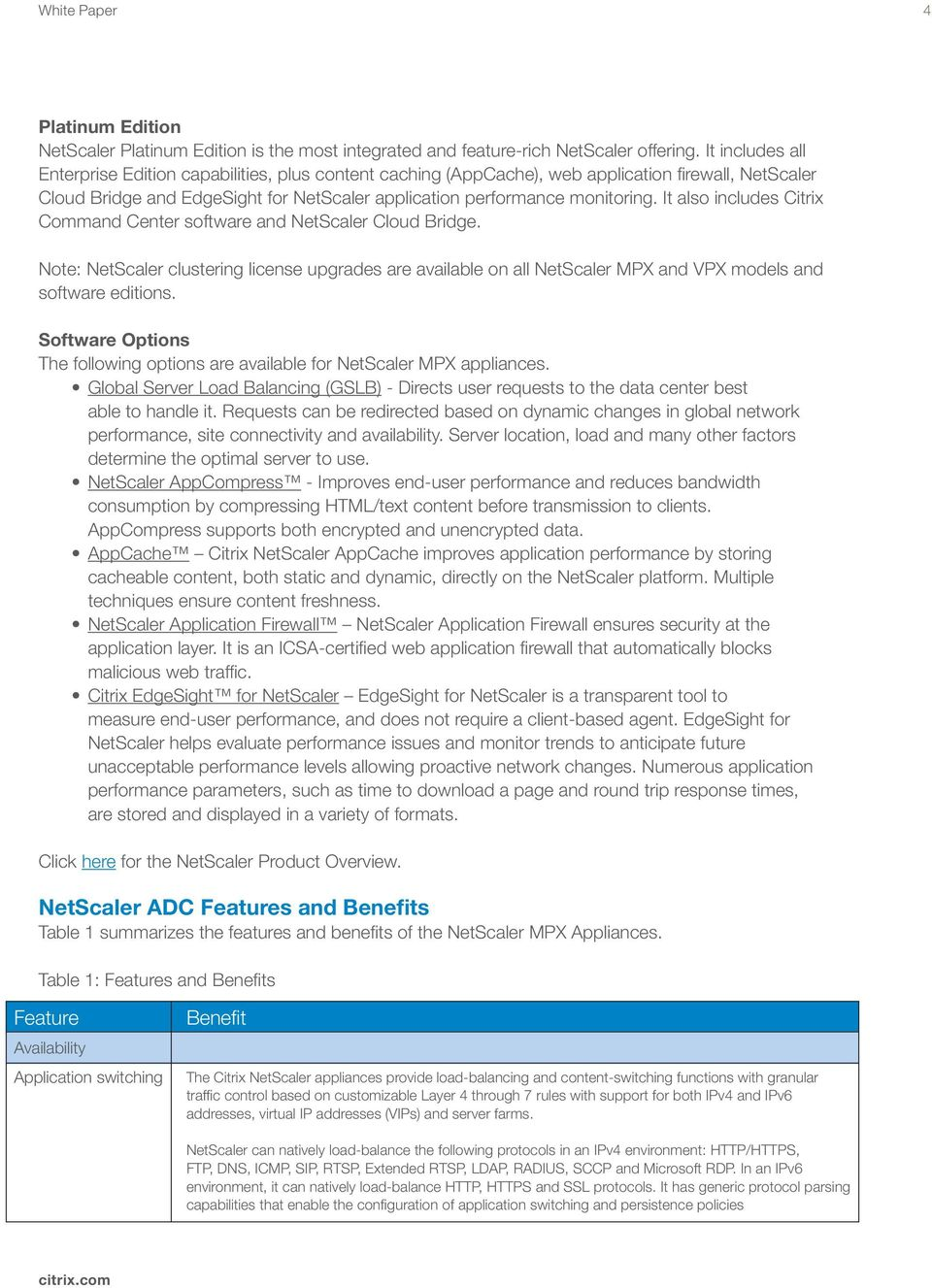White Paper  Citrix NetScaler Deployment Guide - PDF