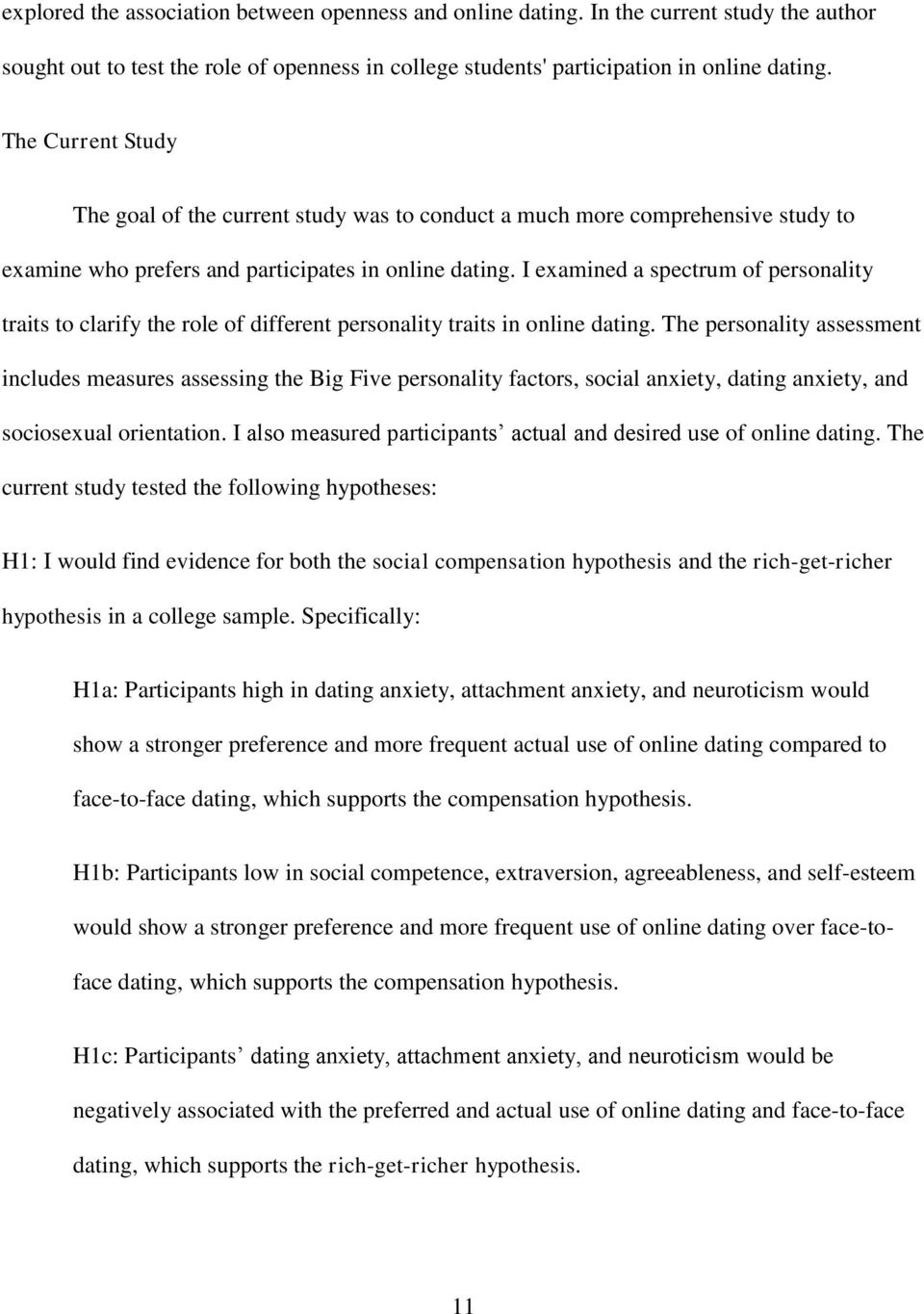 dating personality traits