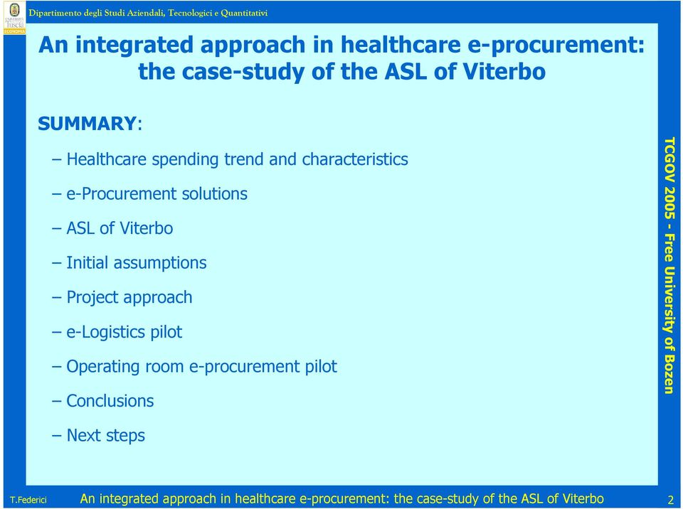 An integrated approach in healthcare e-procurement: the case