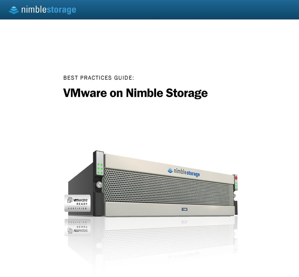 BEST PRACTICES GUIDE: VMware on Nimble Storage - PDF