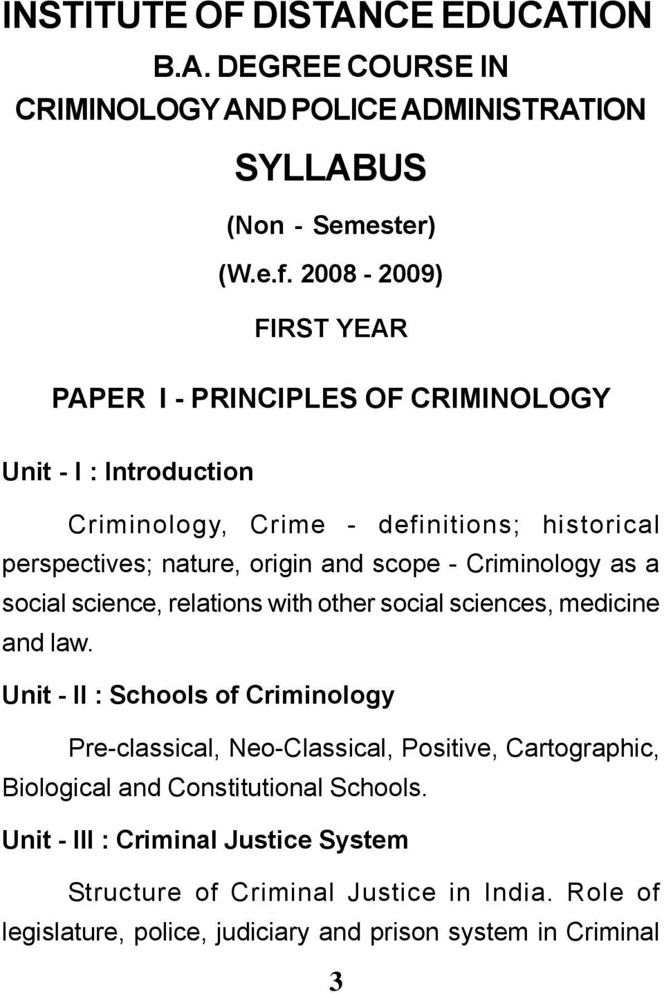 scope - Criminology as a social science, relations with other social  sciences, medicine and