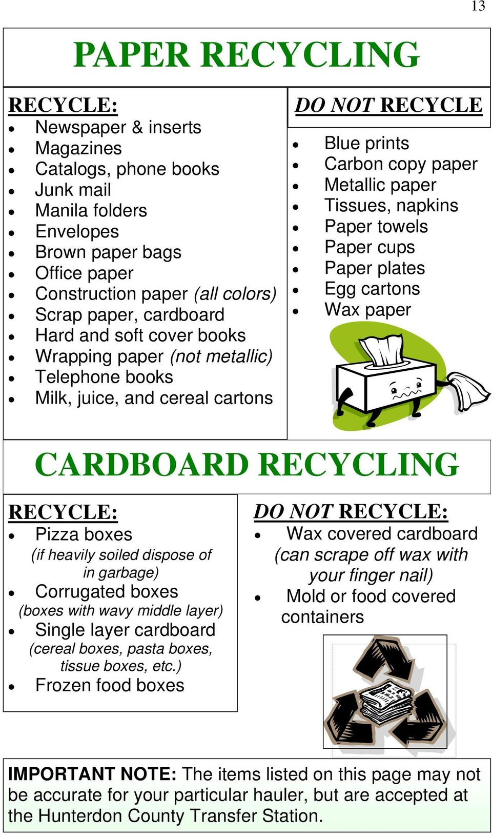 Hunterdon County Recycling And Waste Guide Pdf Molded Circuit Board Equipment Buy Cups Paper Plates Egg Cartons Wax Cardboard Recycle Pizza Boxes If Heavily