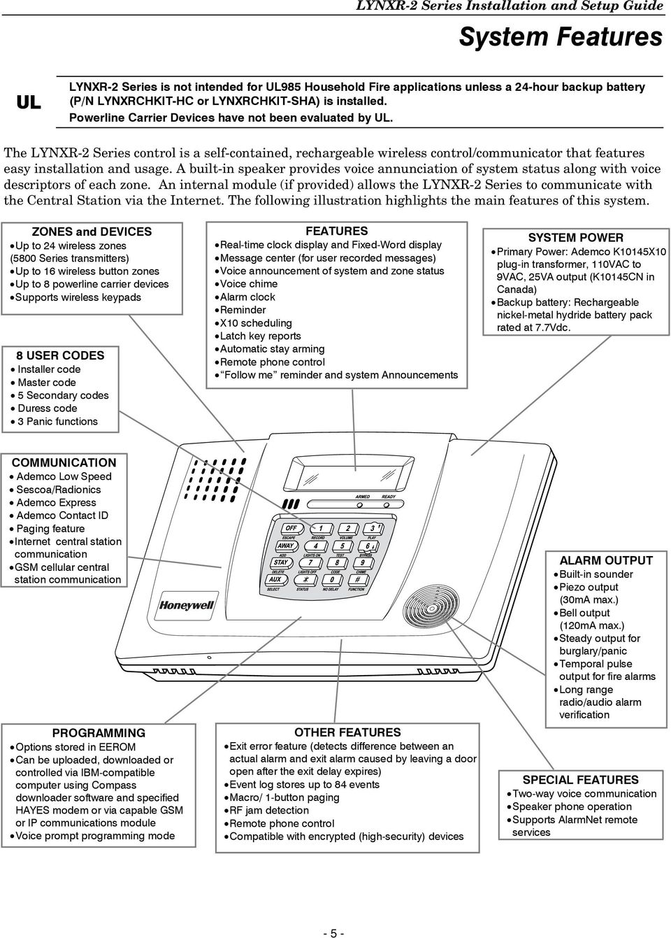 LYNXR-2 Series Security Systems - PDF